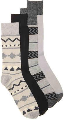Lucky Brand Fairisle Crew Socks - 4 Pack - Men's