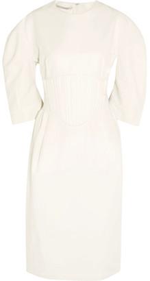 Stella McCartney - Paneled Poplin Dress - Off-white $1,245 thestylecure.com