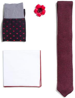 hook + ALBERT Shop the Look Suiting Accessories Set, Maroon