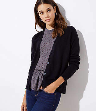 LOFT Signature V-Neck Cardigan