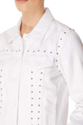Slim Jacket In Studded White