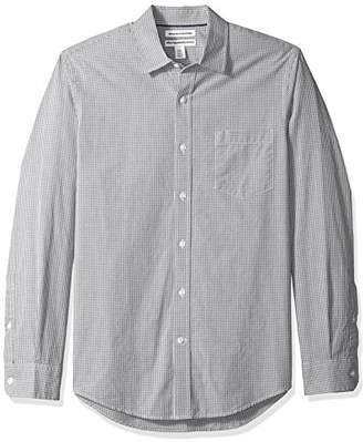 Amazon Essentials Men's Slim-Fit Long-Sleeve Gingham Shirt