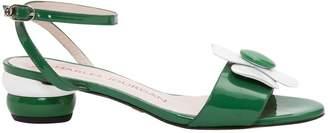 Charles Jourdan Green Patent leather Sandals