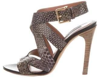 Derek Lam Embossed Ankle Strap Sandals