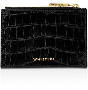 Whistles Shiny Croc Leather Coin Purse