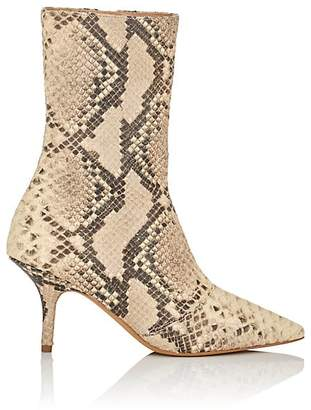 Yeezy Women's Python-Stamped Leather Ankle Boots