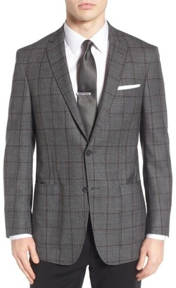 Men's Hart Schaffner Marx Classic Fit Windowpane Wool Sport Coat $495 thestylecure.com