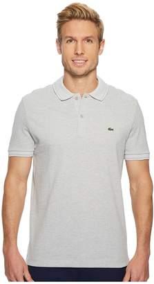 Lacoste Short Sleeve Petit Pique Collar/Sleeve Contrast Regular Men's Short Sleeve Pullover