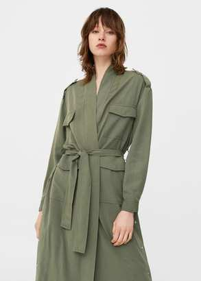 MANGO Side snaps trench $99.99 thestylecure.com
