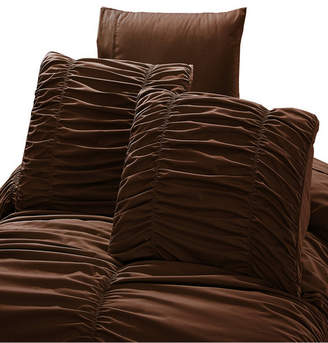 De Moocci Romantic Ruched Pleat 8-Piece Luxury Unique Comforter Set Bedding