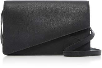 Valextra Twist Crossbody Leather Clutch