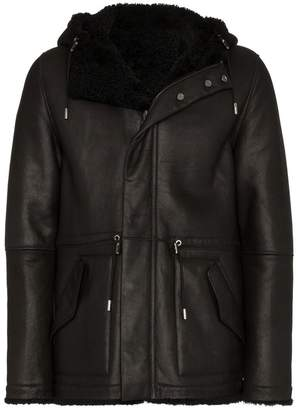 Yves Salomon Reversible Hooded Shearling Jacket