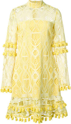 Alexis lace and tassel dress