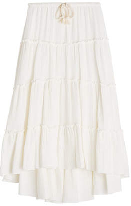 See by Chloe Cotton Skirt with Rope Belt