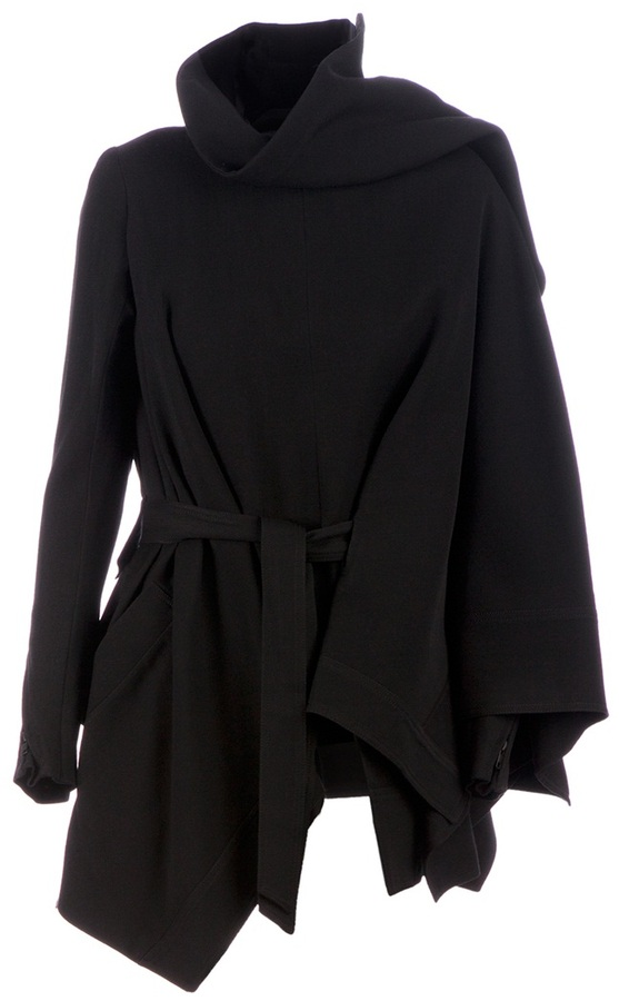 Ann Demeulemeester Cloaked structured jacket