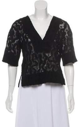 A.L.C. Lace Short-Sleeve Top