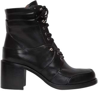 Tabitha Simmons 65mm Leo Leather Combat Boots