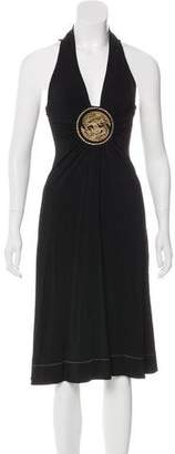 Just Cavalli Sleeveless Midi Dress