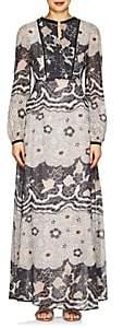 Warm Women's Chelsea Floral Voile Maxi Dress - Black