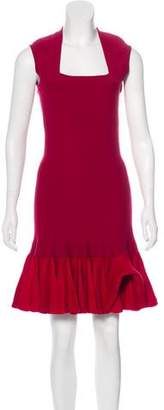 Alaia Fit and Flare Plissé Dress w/ Tags