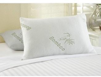 2 Pack Botanical Comfort Bamboo Memory Foam Pillow