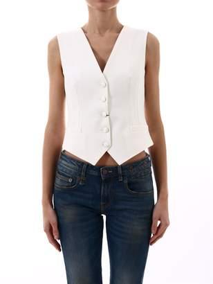 Dolce & Gabbana White Wool Vest