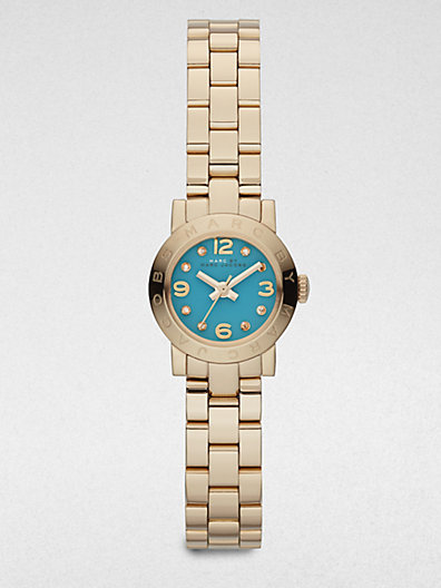 Marc by Marc Jacobs Goldtone Stainless Steel & Crystal Watch