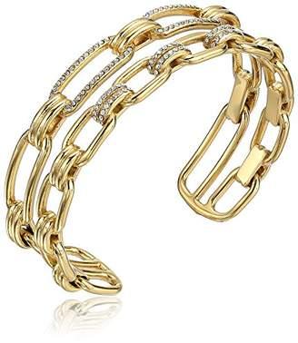 Michael Kors Brilliance Iconic Links -Tone Open Cuff Bracelet