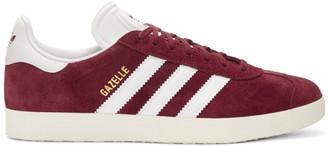 adidas Originals Burgundy OG Vintage Gazelle Sneakers $90 thestylecure.com