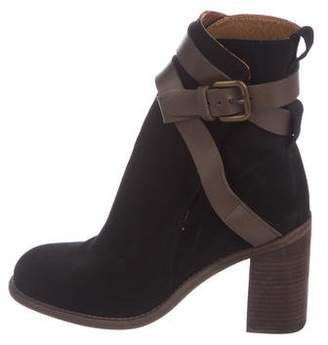 See by Chloe Suede Round-Toe Ankle Boots