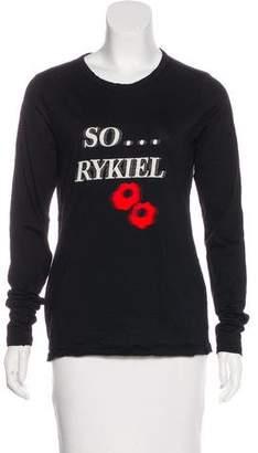 Sonia Rykiel Embroidered Long Sleeve Top
