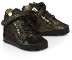 Giuseppe Zanotti Baby's Metallic Leather Crib Shoe