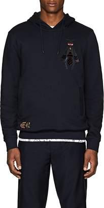 Fendi Men's Bug-Patch Cotton-Cashmere Hoodie