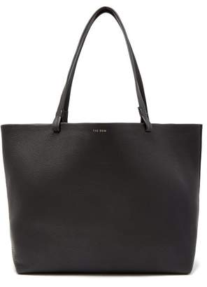 The Row Park Grained Leather Bag - Womens - Black