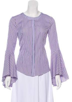 Milly Striped Button-Up Top w/ Tags