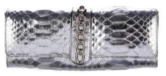 Michael Kors Metallic Python Clutch