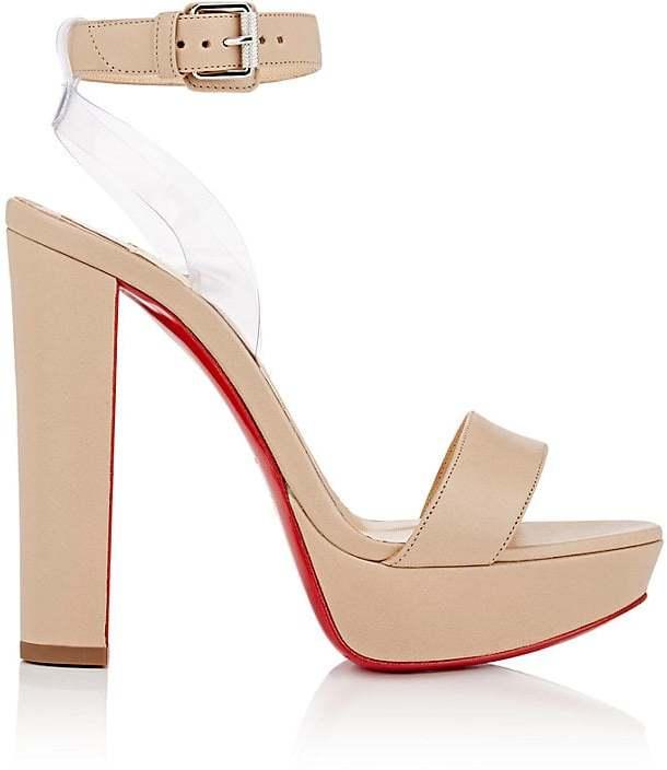Christian Louboutin Women's Cherry Leather & PVC Platform Sandals