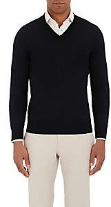 Fioroni Men's Duvet Cashmere V-Neck Sweater - Black