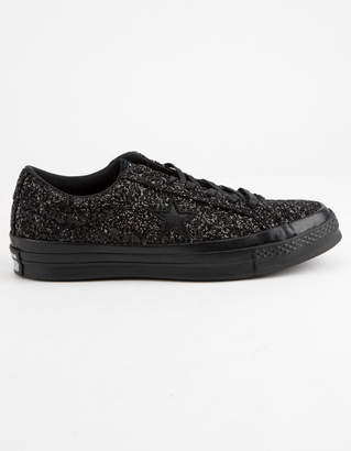 Converse One Star Ox Glitter Black Womens Shoes