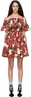 Dolce & Gabbana Multicolor Anemone Ruffle Dress