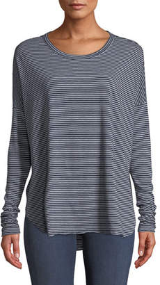 Frank And Eileen Relaxed Striped Long-Sleeve High-Low Tee