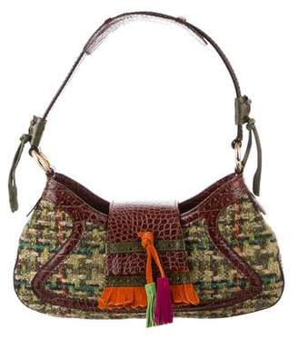 Etro Leather-Trimmed Tweed Bag