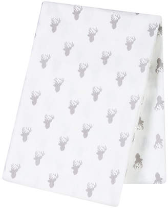 Trend Lab TREND LAB, LLC Gray Stag Silhouette Flannel Swaddle Blanket
