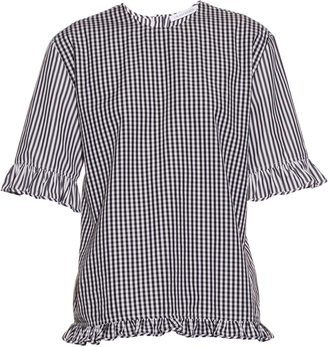 J.W.ANDERSON Gingham ruffled cotton top $375 thestylecure.com