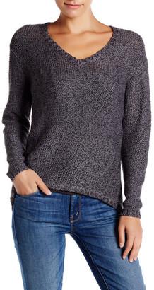 RESEARCH & DESIGN V-Neck Hi-Lo Sweater $85 thestylecure.com