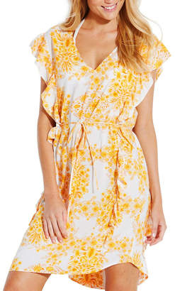 Seafolly Sunflower Ruffled Cover Up