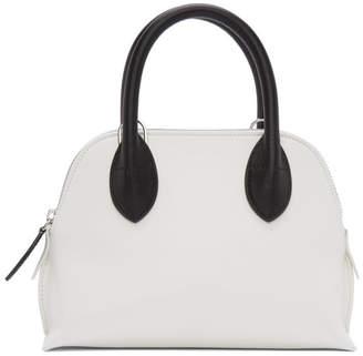 Lanvin White and Black Mini Magot Bag