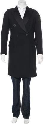 Dries Van Noten Wool Longline Double-Breasted Evening Coat