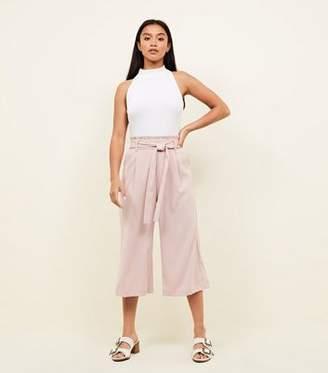 New Look Petite Pink Tie Waist Culottes