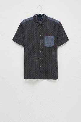 French Connenction Kast Tile Short Sleeve Shirt